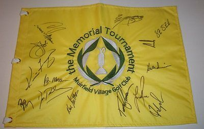 The Memorial Signed Golf Pin Flag S/14 Champions Fred Couples