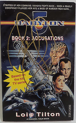 Babylon 5 : Book 2 Accusations Signed By Claudia Christian April 2017
