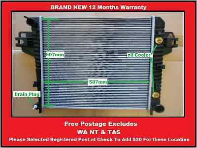 Radiator Jeep Cherokee KJ 3.7Ltr 6Cly 2001-2008 Auto & Manual Universal New 4X4