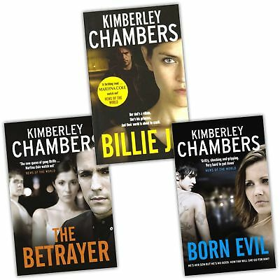 Kimberley Chambers 3 Books Set Billie Jo, Born Evil The Betrayer Collection Pack