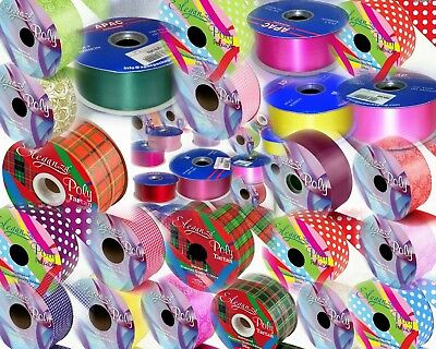 """Full Roll, Choice of 49 Colours, 2"""" Florist Ribbon 91m & 50m, Wedding Car, Party"""
