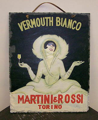 "Martini & Rossi ""Vermouth Bianco"" slate wall hanging"