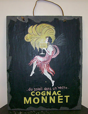 Cognac Monnet by Leonetto Cappiello slate wall hanging