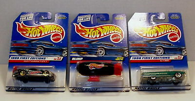 Hot Wheels Lot of 3 Blimp '63 T-Bird Olds Aurora GTS-1 Free Ship w/ Pro Packing