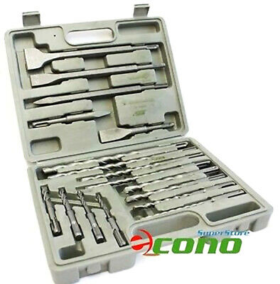17Pc Sds Plus Drill Bits & Chisel For Rotary Hammer Fit Hilti Bosch