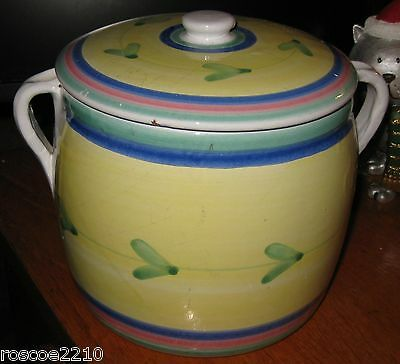 Hand Painted Italian Covered Pot/Cookie Jar