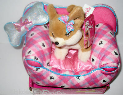 New Barbie Fashion Pet Set - Lacey The Puppy + Couch