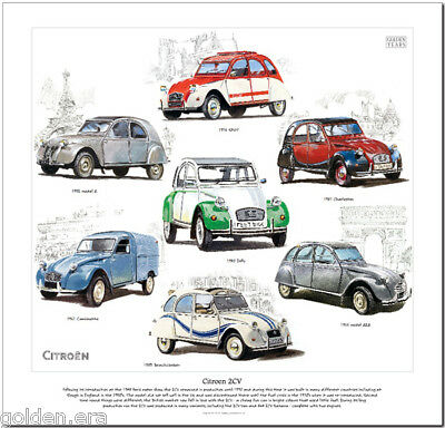 CITROEN 2CV  FINE ART PRINT - Spot Dolly Camionette AZA Charleston Beachcomber
