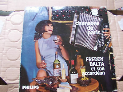 FREDDY BALTA,CHANSONS DE PARIS lp philips rec. m-/vg+