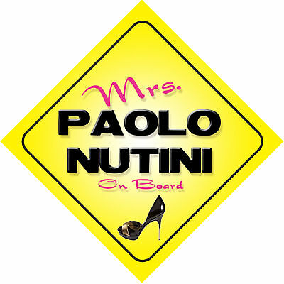 Mrs Paolo Nutini on Board Baby Pink Car Sign