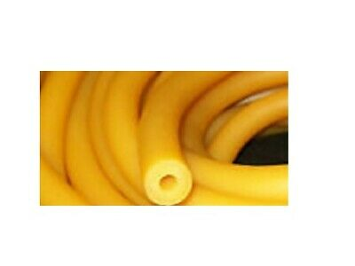"""10 Continuous Feet 1/4"""" I.D x 3/16"""" wall x 5/8"""" O.D Latex Rubber Tubing Amber"""