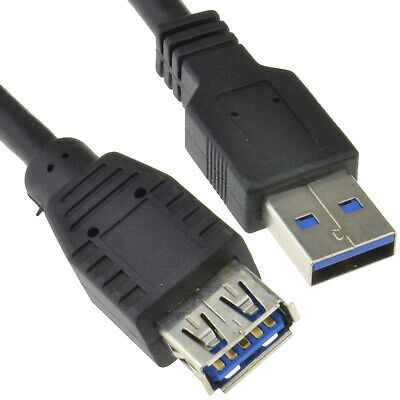 5m USB 3.0 SuperSpeed Type A Male To Female Extension BLACK