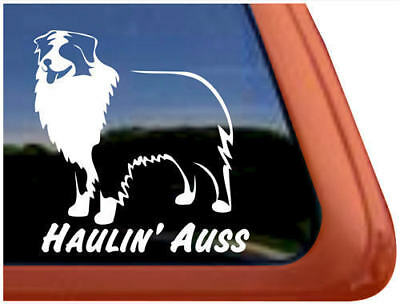 Haulin' Auss Australian Shepherd Vinyl Decal Sticker