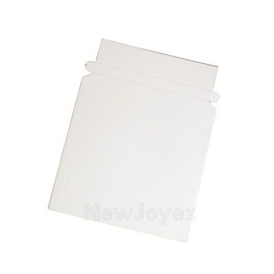 100 Rigid 6 3/8x6 CD DVD Disc Mailer Envelope Stay Flat