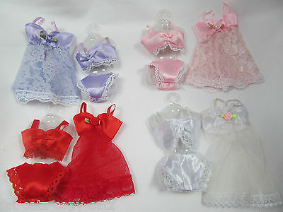Barbie Doll's Clothing Sexy Lace Lingerie Underwear Bra Knickers Baby Doll Set