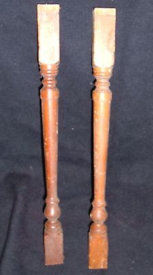 Antique Turned  Wood Spindle Baluster 18.5""