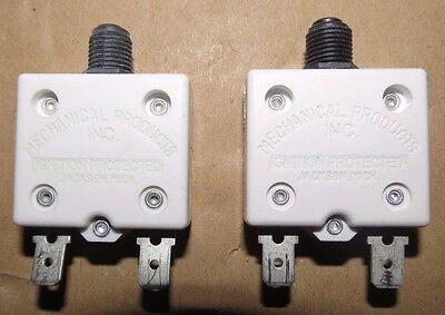 Mechanical Products 2 Amp Boat Breakers - Black - Push To Reset #1681-104-200