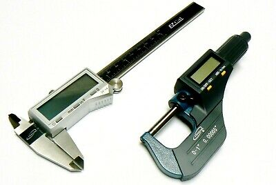 iGaging DIGITAL ELECTRONIC MICROMETER & CALIPER SET MACHINIST MEASURING TOOL KIT
