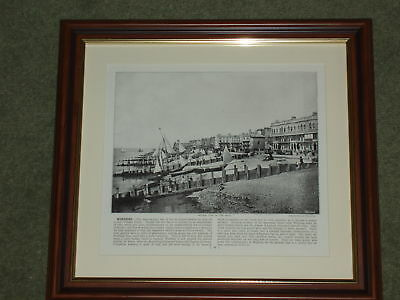 Dated 1895 Print over 120 years old Worthing View of  Front x