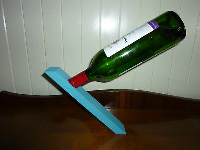 Wine Bottle Magic Stand - Turquoise - Great Gift