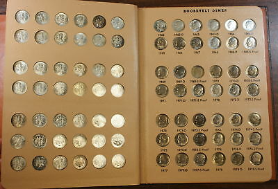 1946-1988 Roosevelt Dime Coin Collection Set, BU & Proof
