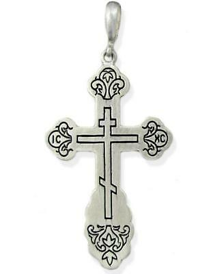 Pectoral LARGE Sterling Silver Cross Three Barred 2 ""