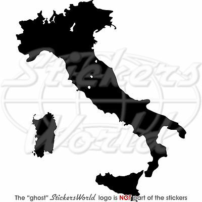 "ITALY Map Shape ITALIAN Silhouette 5,6"" (142mm) Vinyl Sticker - Decal ANY COLOR"