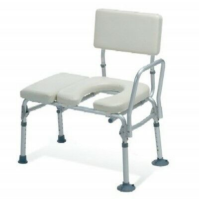Guardian Padded Transfer Bath Bench w/ Commode Opening