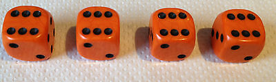 4x ORANGE with Black spots Dice Dust Valve Caps