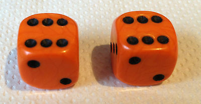 2 x ORANGE with Black spots Dice Dust Valve Caps