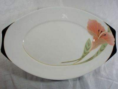 Villeroy and Boch Iris Peach/Black Pickle/Underplate