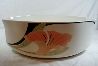 Villeroy and Boch Iris Peach/Black Round Vegetable Bowl
