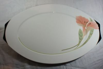 Villeroy and Boch Iris Peach/Black Oval Serving Platter