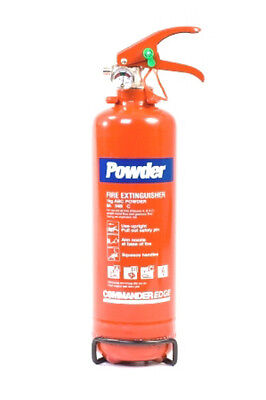 3 DRY POWDER 1kg FIRE EXTINGUISHERS FOR HOME OFFICE USE - NEW