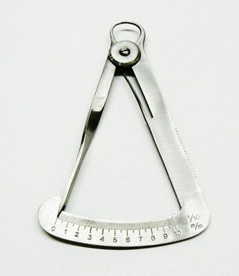 """Thickness Gauge Jewelry Mm Guage Measuring Gage 4"""" Ss"""