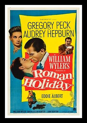 ROMAN HOLIDAY * CineMasterpieces ORIGINAL 1953 AUDREY HEPBURN MOVIE POSTER