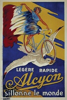 BICYCLE VINTAGE AD POSTER Alcyon RARE HOT NEW