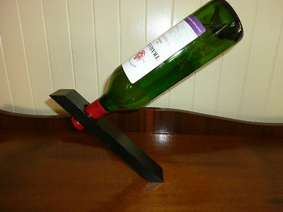 Wine Bottle Magic Stand - Black - Great Gift