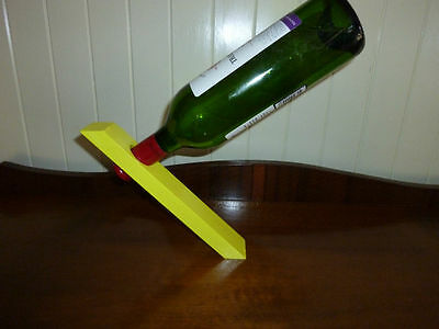 Wine Bottle Magic Stand - Yellow - Great Gift