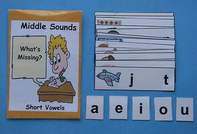 Teacher Made Literacy Center Resource Game Middle Sound