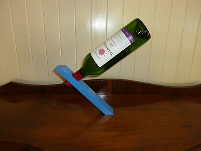 Wine Bottle Magic Stand - Blue - Great Gift