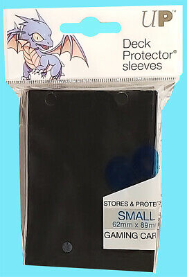 60 Ultra Pro DECK PROTECTOR Card Sleeves Black Yu-Gi-Oh Small Size Game Storage