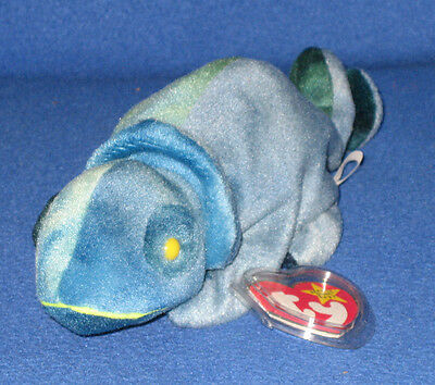 0cce6e27122 LOT OF 12 TY RAINBOW the DARK BLUE CHAMELEON BEANIE BABY - MINT with ...