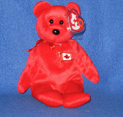 TY PIERRE the BEAR BEANIE BABY - MINT with MINT TAGS - CANADA EXCLUSIVE