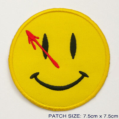 "WATCHMEN ""THE COMEDIAN"" Embroidered Smiley Patch..."