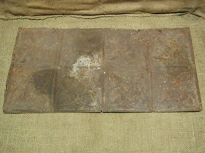 Vintage Metal Architectural Ceiling Tile Antique 6286