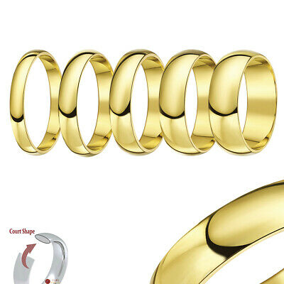 18ct Yellow Gold Ring Extra Heavy Court Wedding Ring Band