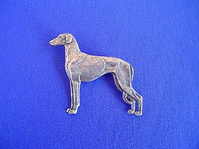 Smooth saluki pin STANDING #15i Pewter SightHound dog Jewelry b Cindy A. Conter