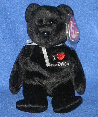 TY I LOVE NEW ZEALAND BEANIE BABY BEAR - MINT with MINT TAGS - AP EXCLUSIVE