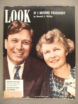Look Magazine - October 22, 1940 -- Wendell Wilkie cover
